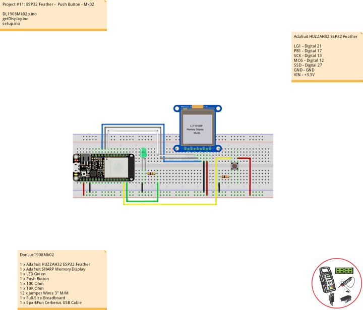ESP32 Feather - Push Button - Mk02